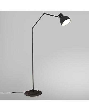 Lámpara de diseño de pie articulada 113 cm BLUX SYSTEM F30 pantalla de aluminio E27 11W