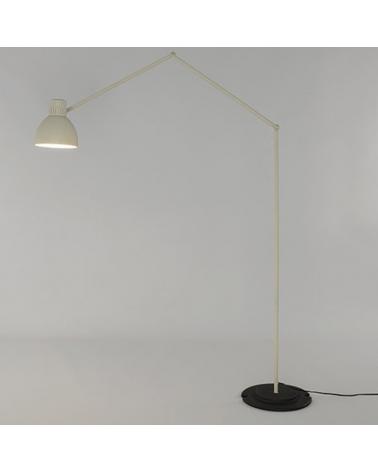 Design lamp articulated floor 113 cm BLUX SYSTEM F50 aluminum lampshade E27 11W