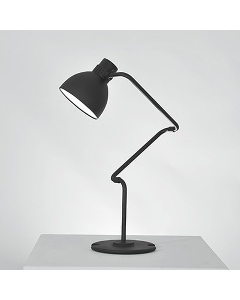 Articulated table lamp BLUX SYSTEM T30 aluminum lampshade E27 11W