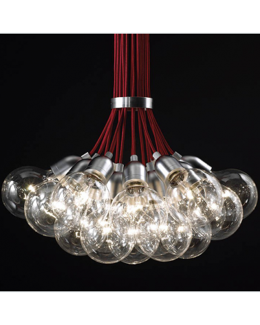 Design ceiling lamp ILDE MAX S19 with 19 LED metal pendant 19x2W 2700k