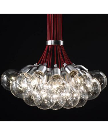 Lámpara de diseño de techo ILDE MAX S19 con 19 pendel de metal LED 19x2W 2700k