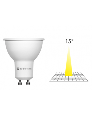 Spot Dicroica 50mm LED 7W GU10 15°