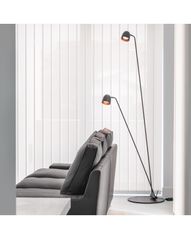 Design floor lamp 220 cm SPEERS F LED 2x7W 2700K with two light heads