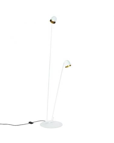 Lámpara de diseño de pie 220 cm SPEERS F LED 2x7W 2700K con dos cabezas lumínicas