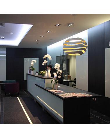 Design ceiling lamp TREE SERIES S75 LED 25,7W 3000K aluminum lampshade