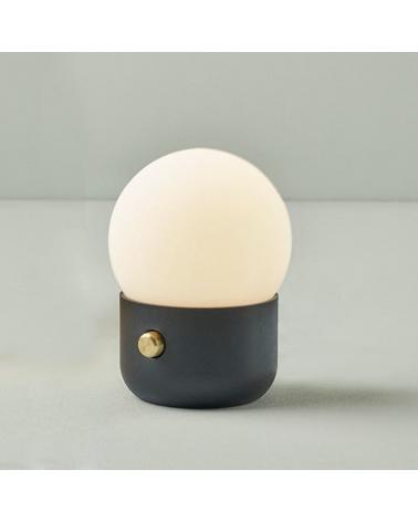 Lámpara portátil de mesa LED de diseño esfera vidrio opal KUP CAMP 13 cm 3000K 1,3W