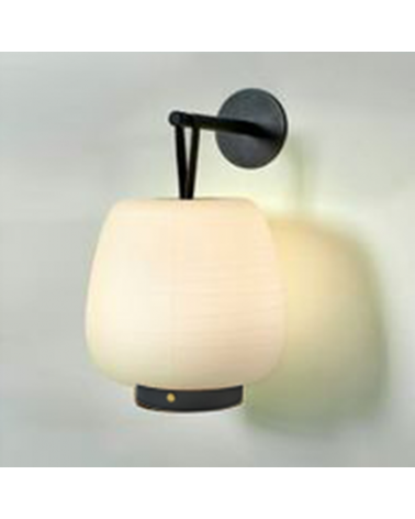 Aplique de pared lámpara portatil diseño MISKO CAMP HOOK LED 2,1W 3000K con batería recargable