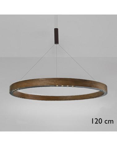 Lámpara de techo de diseño R2 S120 LED 6x17W 3000K de aluminio con cable de suspensión central