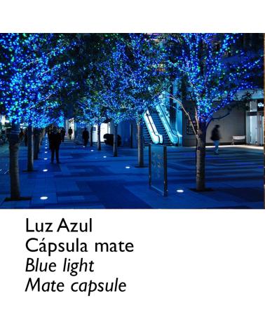 Guirnalda 12m y 180 LEDs azules cápsula mate, empalmable, IP65 apta para exterior