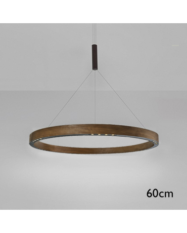 Design ceiling lamp R2 S60 LED 3x18W 3000K in aluminum with central suspension cable
