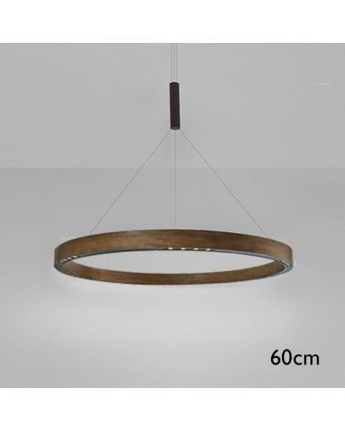 Lámpara de techo de diseño R2 S60 LED 3x18W 3000K de aluminio con cable de suspensión central