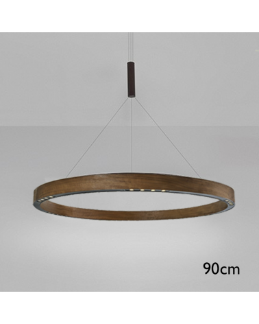 Design ceiling lamp R2 S90 LED 4x18W 3000K in aluminum with central suspension cable