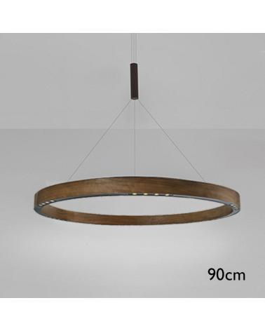 Lámpara de techo de diseño R2 S90 LED 4x18W 3000K de aluminio con cable de suspensión central