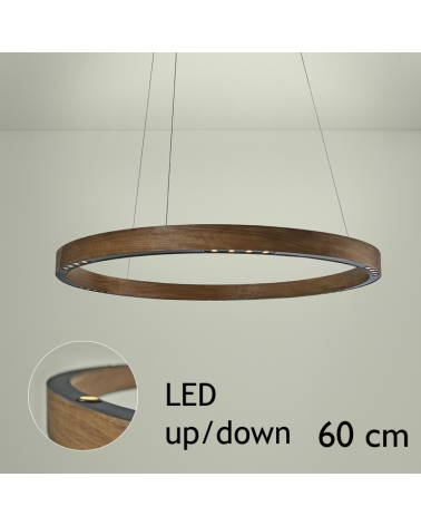 Design ceiling lamp R2 S60 FLAT CANOPY UP / DOWN LED 3x18W and 3x4,5W 3000K in aluminum with ceiling rose