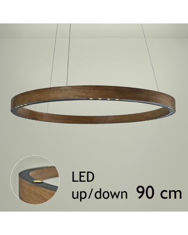 Design ceiling lamp R2 S90 FLAT CANOPY UP / DOWN LED 4x18W and 4x4,5W 3000K in aluminum with ceiling rose