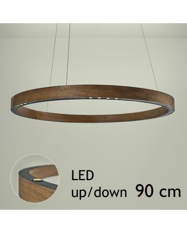 Lámpara de techo de diseño R2 S90 FLAT CANOPY UP/DOWN LED 4x18W y 4x4,5W 3000K de aluminio con florón