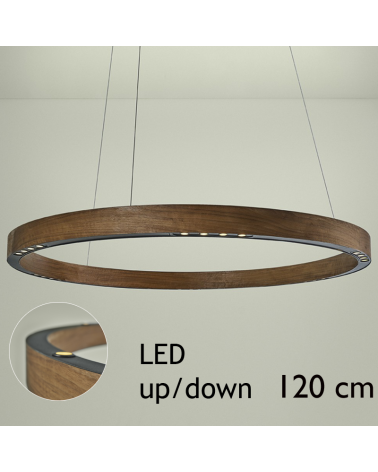 Design ceiling lamp R2 S120 FLAT CANOPY UP / DOWN LED 6x18W and 6x4,5W 3000K in aluminum with ceiling rose