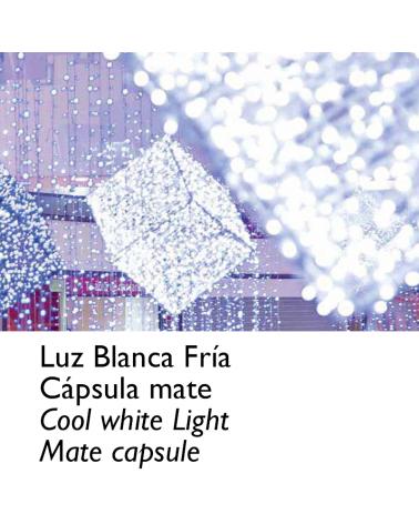Guirnalda 12m y 180 LEDs blanco cápsula mate, empalmable, IP65 apta para exterior