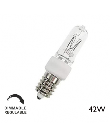ECO 42W E14 tubular halogen with warm and dimmable light