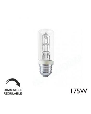ECO 175W E27 tubular halogen warm and dimmable light