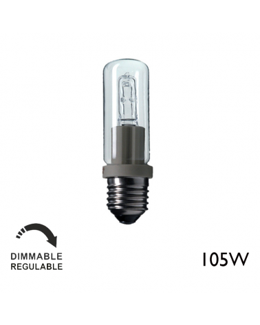 ECO 105W E27 tubular halogen warm and dimmable light