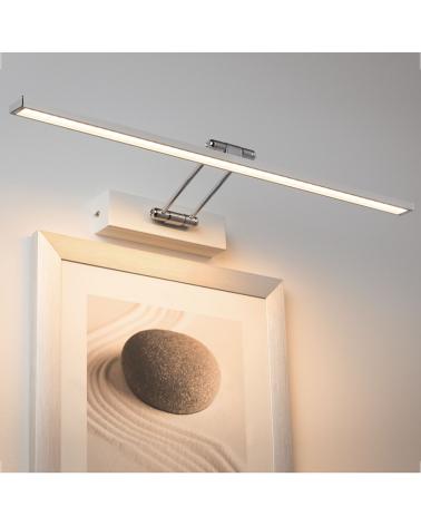 Wall light 58.5 cm 11W LED 2700K white and chrome