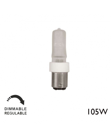 Halogen minican ECO 105W 220V Ba15d dimmable warm light