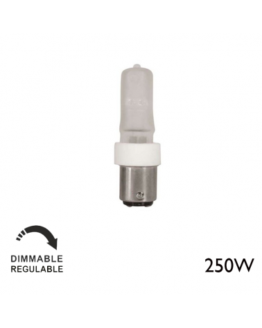Halogen minican ECO 250W 220V Ba15d dimmable warm light