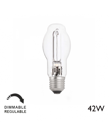 Decorative halogen ECO 42W thread E27 230V clear, warm and dimmable light