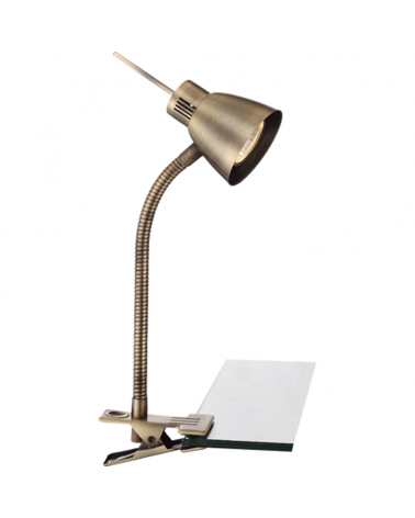 Flexo de pinza 37,5 cm brazo flexible metal GU10