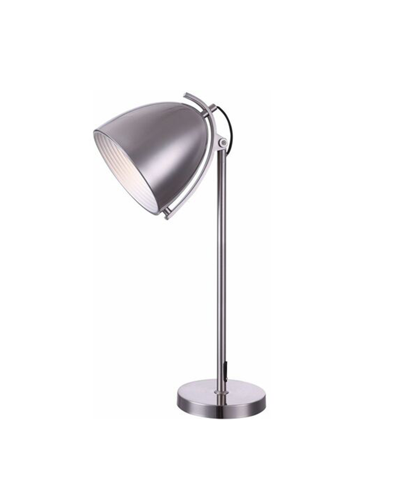 70cm metal lamp with silver finish 60W E27