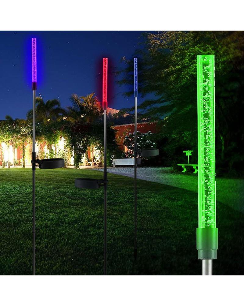 Solar garden skewer 80 cm stainless steel