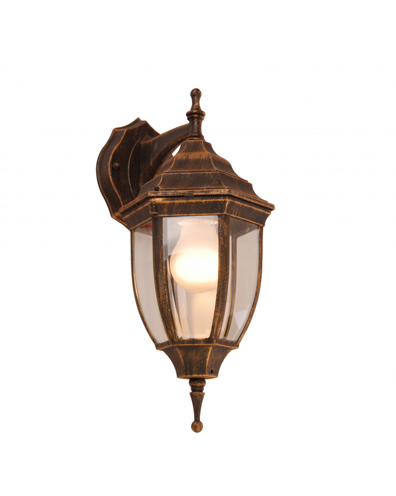 Classic style outdoor wall light IP44 E27 height 35.5cm