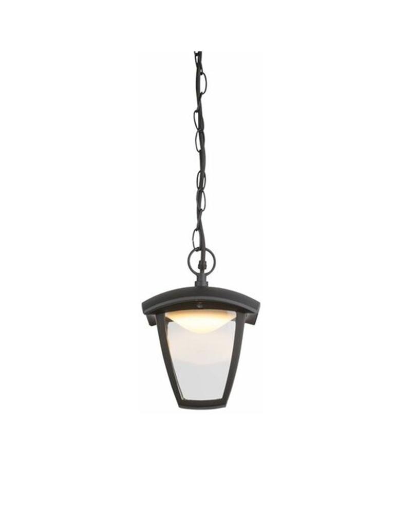 81cm LED pendant lamp for outdoor IP44 in black aluminum 3000K