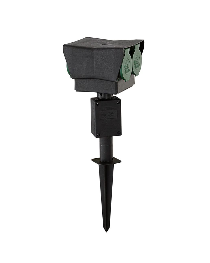 Spike with 4 watertight sockets for exteriors 44cm IP44