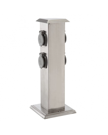40 cm stainless steel beacon IP44 gray finish with 4 watertight plugs