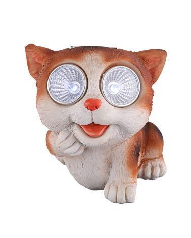 Solar lamp cat 9cm 0,024W 3V LED