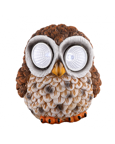 Brown owl solar lamp 9cm 0,024W 3V LED