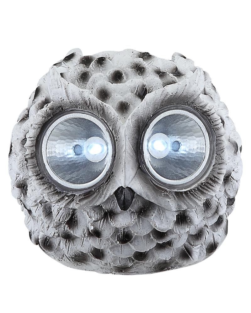 Solar lamp owl shape white 10cm LED IP44