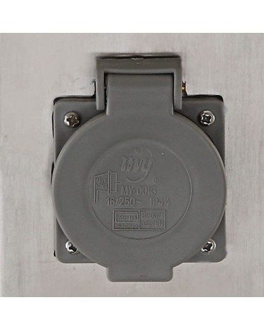 40 cm stainless steel beacon IP44 gray finish with 2 watertight plugs