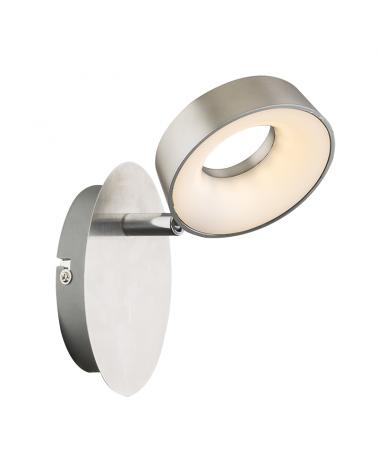 15,5cm LED wall light in matt nickel satin 4W 3000K