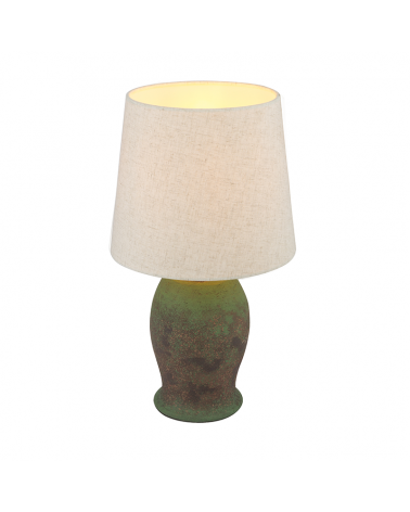 45cm ceramic table lamp and E27 60W brown fabric lampshade