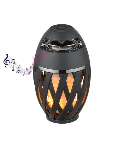 LED table lamp 16,5cm IP65 flashlight and speaker