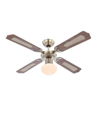 106.6cm ceiling fan oak finish with E27 60W light source