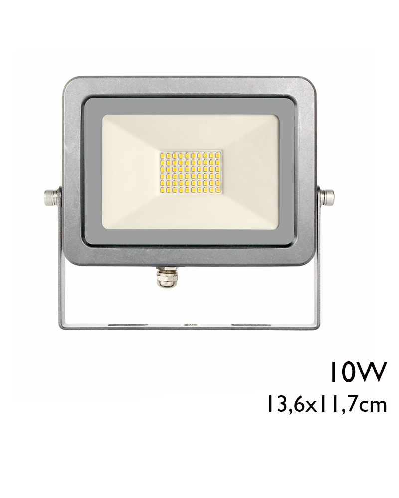 Outdoor projector 13.6cm gray finish 10W IP65 5000K