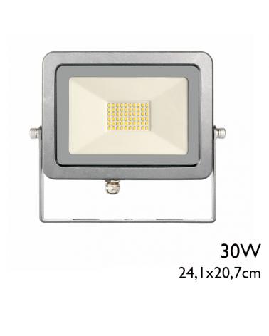 Proyector de exteriores 24,1cm acabado gris 30W IP65 5000K