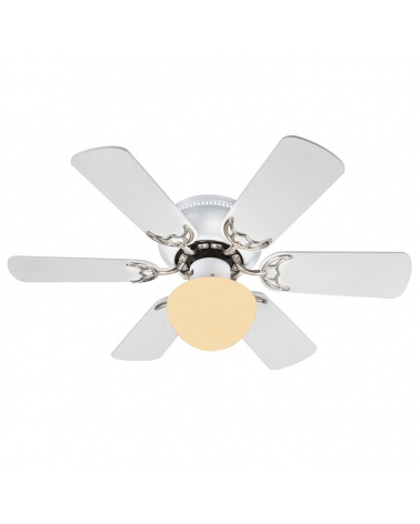 Ventilador de techo 82cm acabado blanco y gris con fuente de luz E27 60W