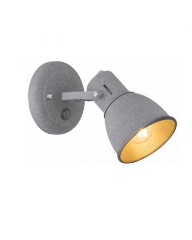 Apply 19cm metal gray finish E14 40W