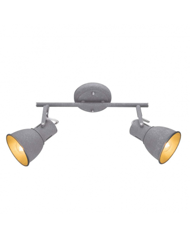2 spotlight strip 28cm metal gray finish E14 40W