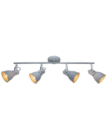 4 spotlight strip 68,5cm metal gray finish E14 40W